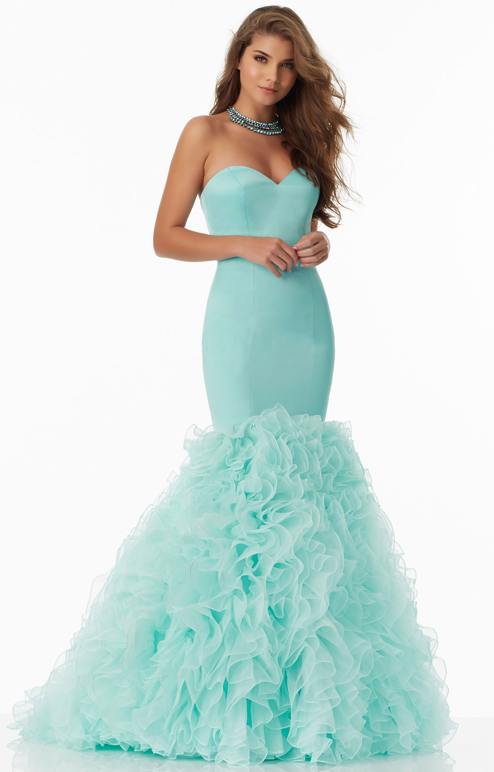 Mori Lee Prom 99041 - Strapless Sweetheart Satin and