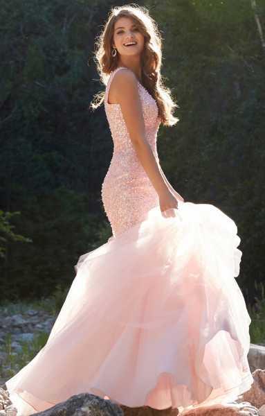 Mori Lee Prom 99070 Fully Beaded V Neck Mermaid With