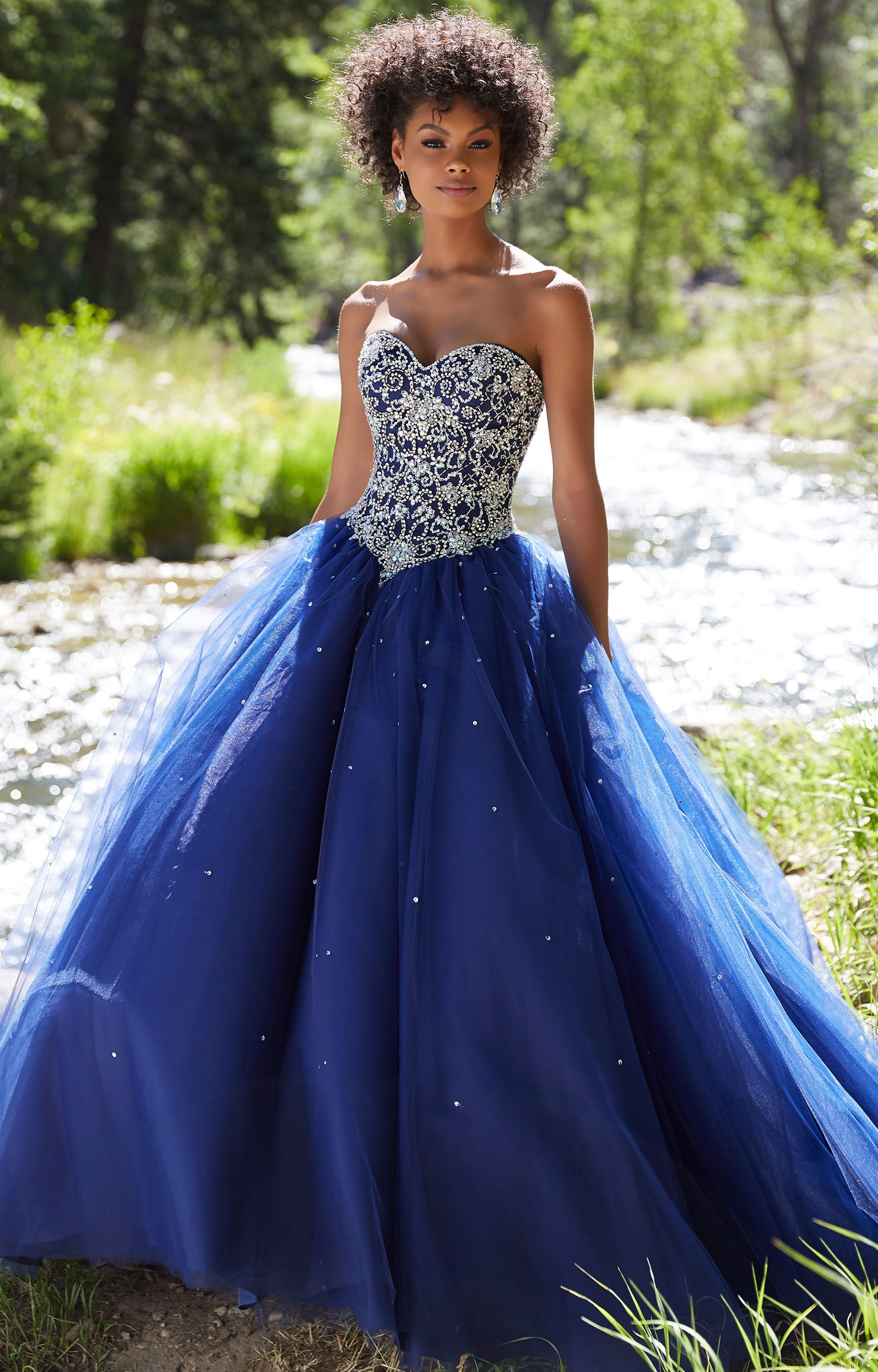 Sparkly Prom Dresses,Tulle Long Prom Dress,Princess Prom
