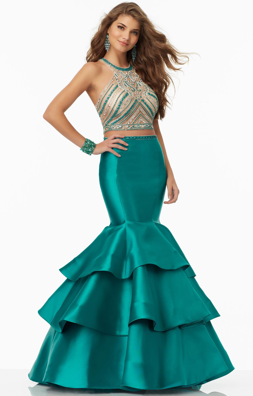 Mori Lee Prom 99094 - 2 Piece Larissa Satin Mermaid with Beaded ...