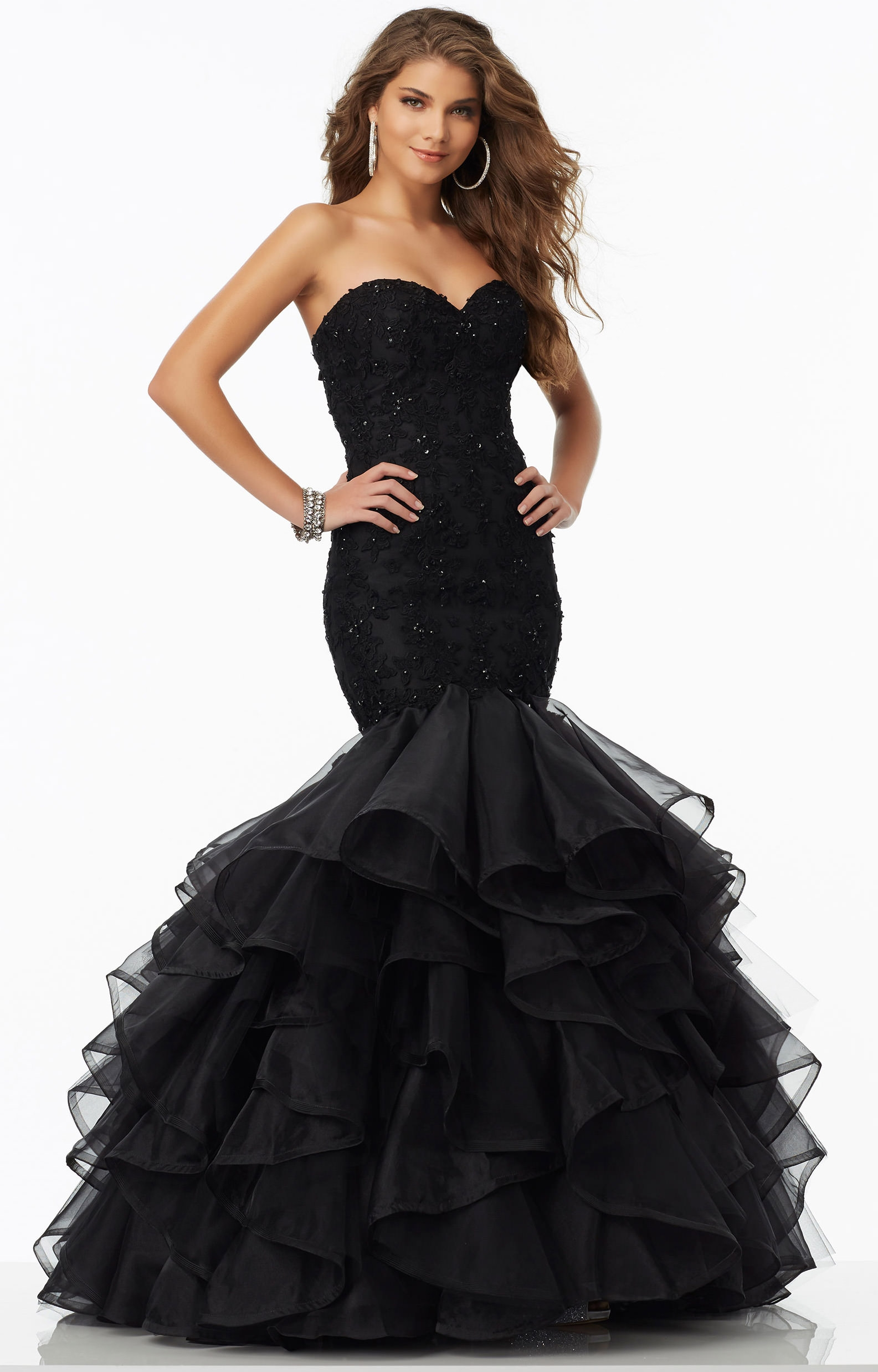 Mori Lee Prom 99095 Strapless Sweetheart Mermaid With