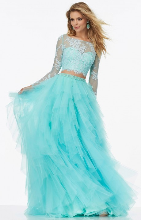 Mori Lee Prom 99124 Long Two Piece Long Sleeves