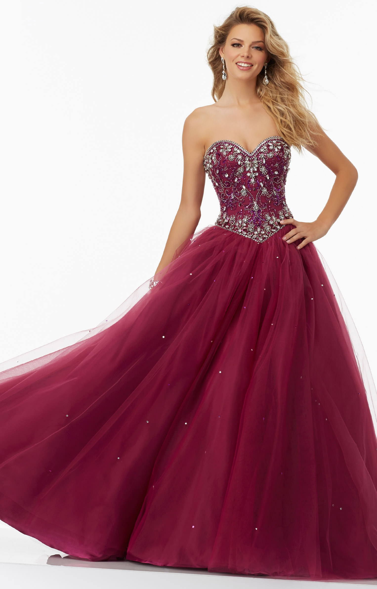 Pink winter formal dresses
