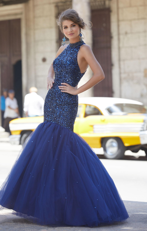 Mori Lee Prom 42002 - Halter Tulle Mermaid Prom Dress