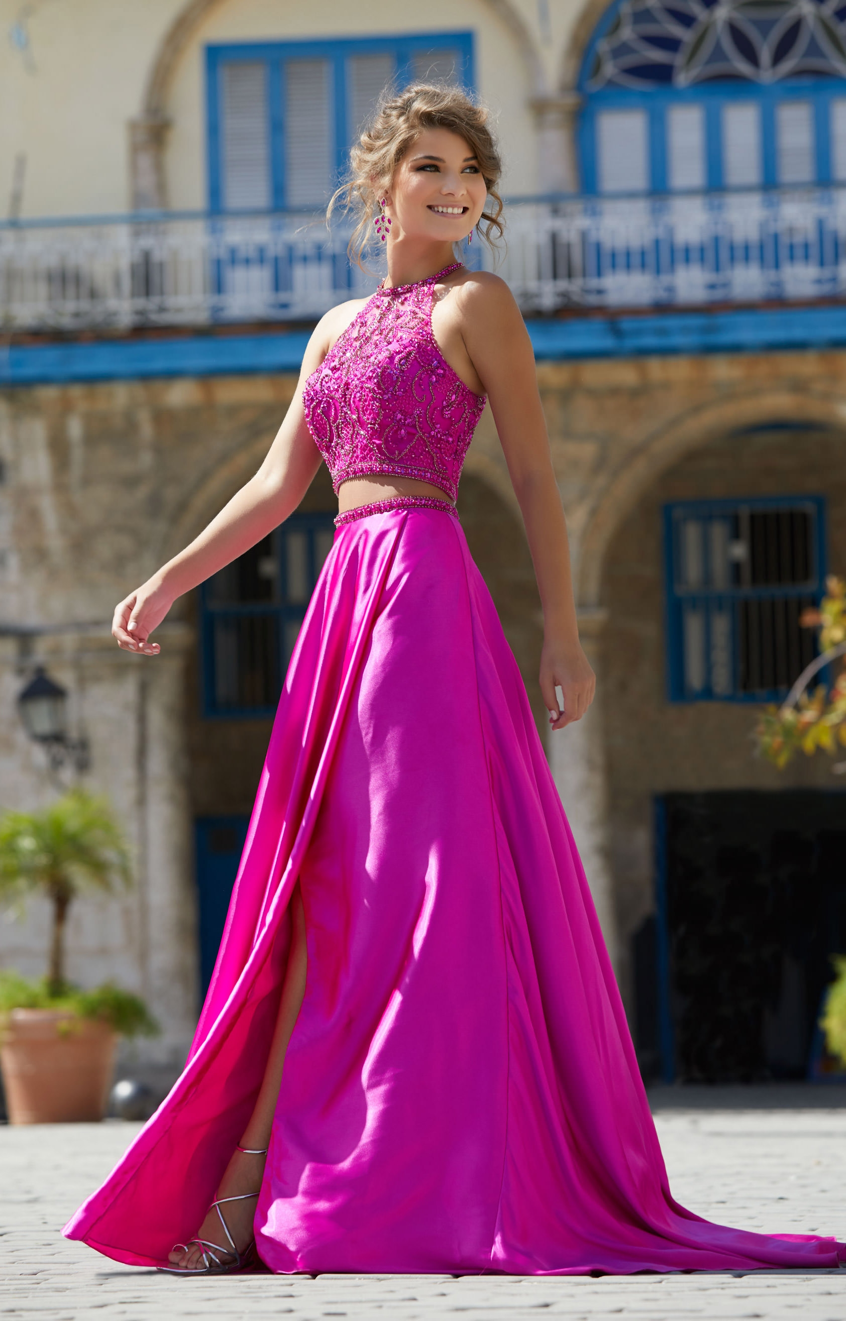 Mori Lee Prom 42012 - 2 Piece Charmeuse Wrap Skirt Prom Dress