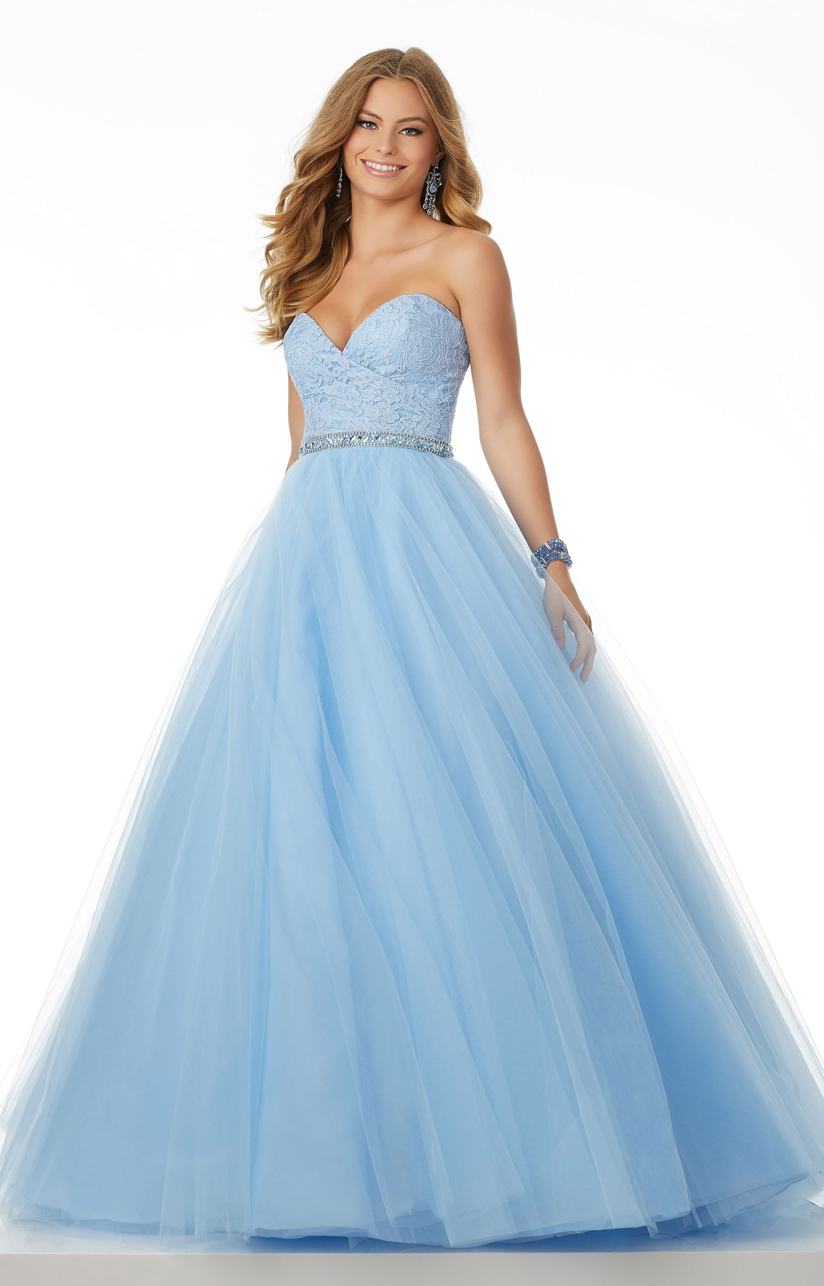 Mori Lee Prom 42034 - Strapless Sweetheart Neckline Tulle Ball Gown ...