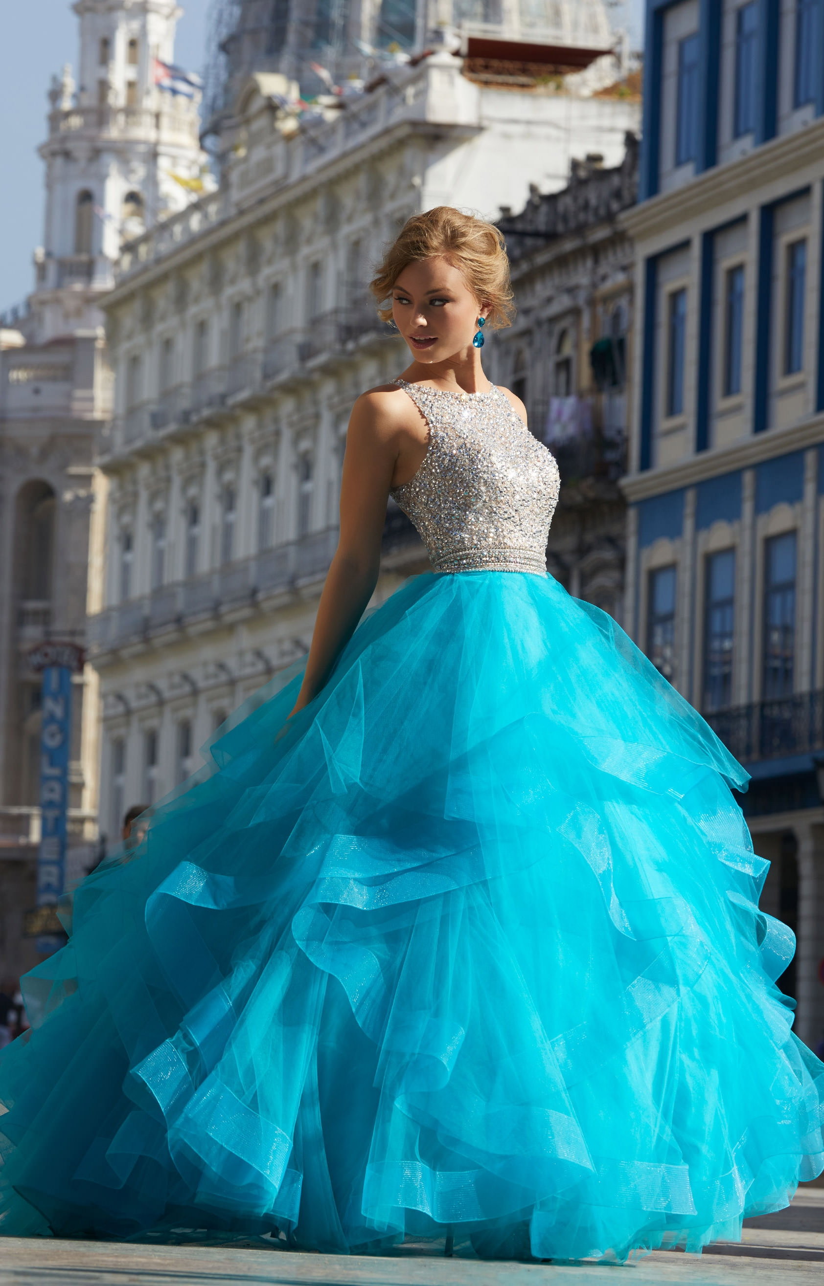 Mori Lee Prom 42046 - Sleeveless Tulle Ball Gown Prom Dress
