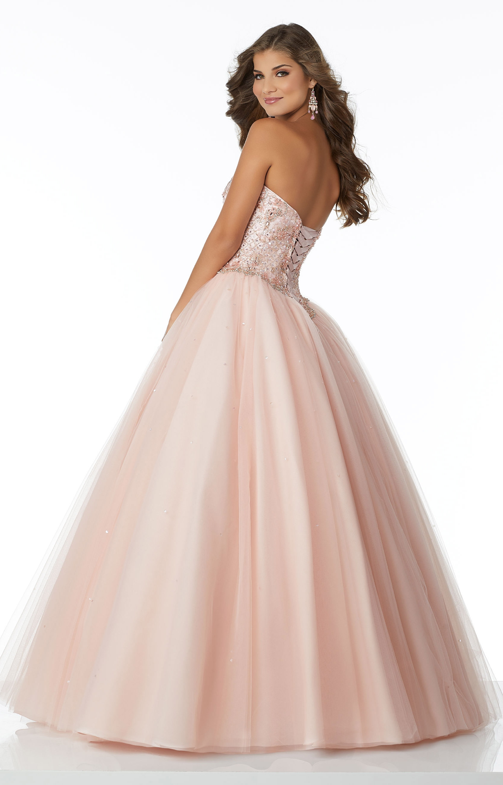 Mori Lee Prom 42133 Strapless Tulle Ball Gown Prom Dress