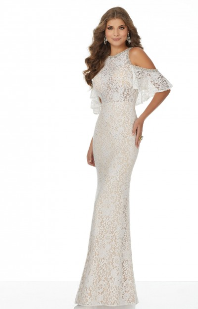Cold Shoulder Lace Fitted Dress