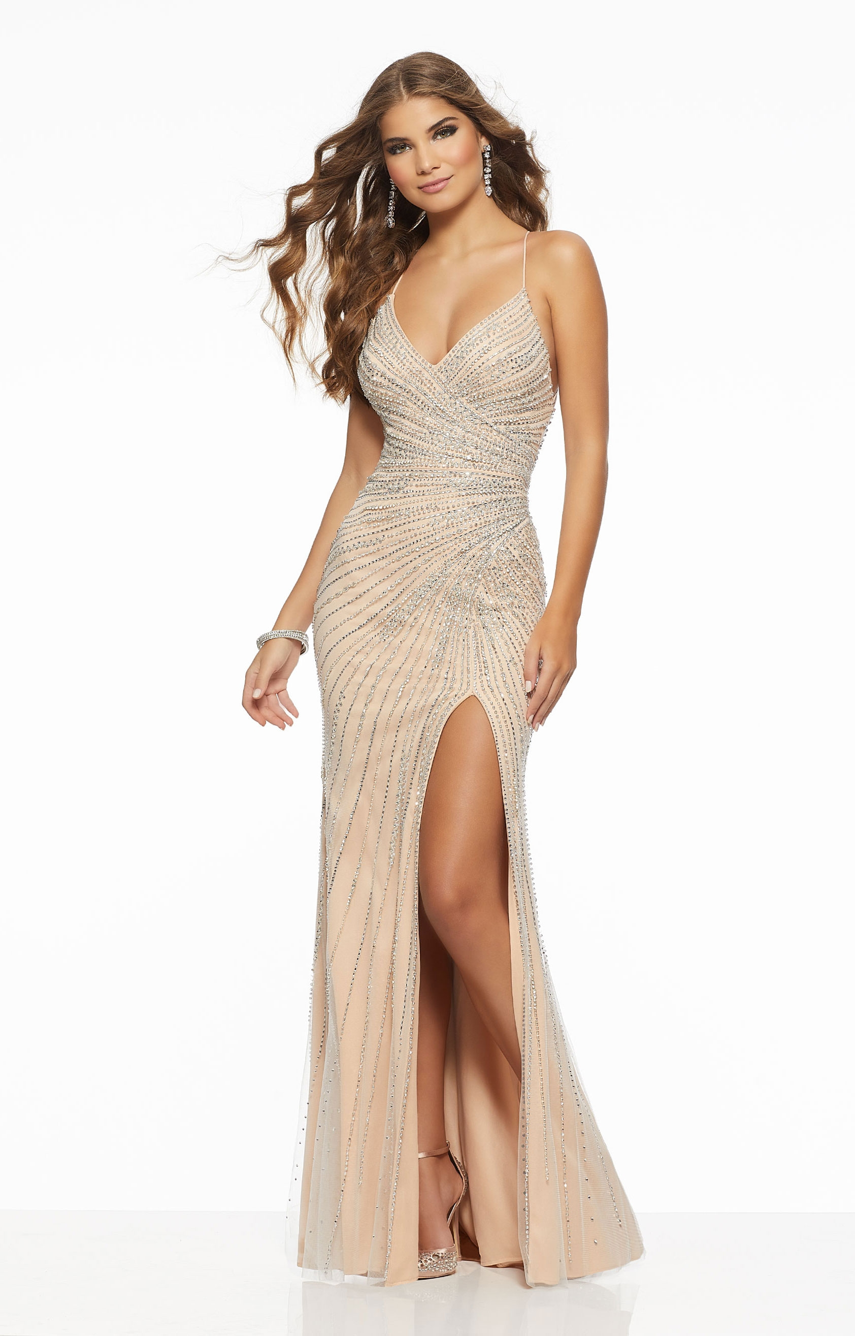 a2bf9994df Morilee Prom 43001 - Beaded V-Neckline Fitted Gown