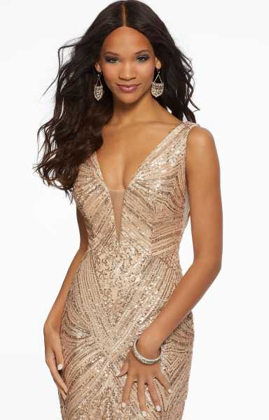 Morilee Prom 43007 V-Shape and Has Straps picture 1