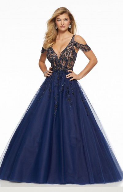 Classic Sheer Lace Tulle Ball Gown