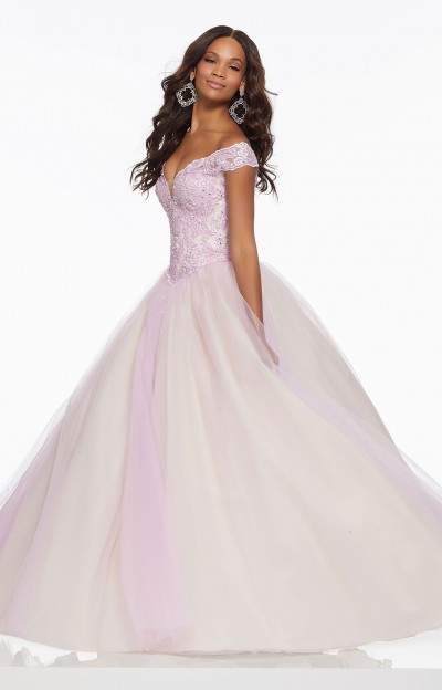 Princess Corset Back Tulle Ball Gown