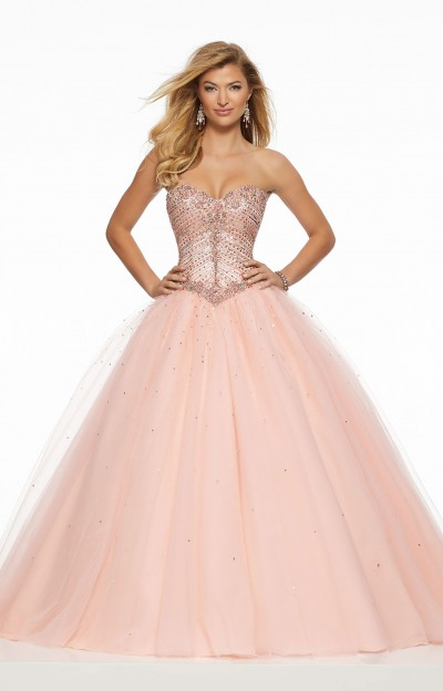 Sweetheart Embellished Strapless Ball Gown