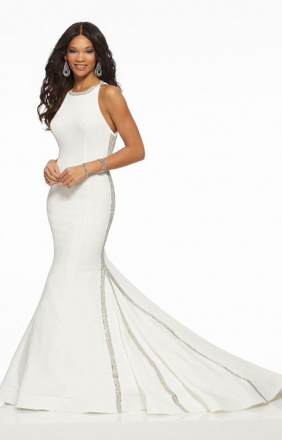 High Neckline Classy and Elegant Fitted Dress