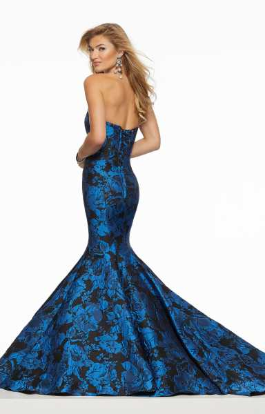 Mori Lee Prom 43107A Strapless and V-Shape picture 1