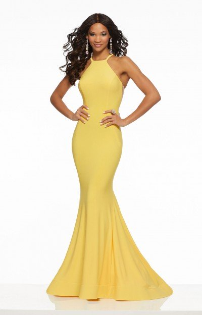 434989bbd6e Sexy High Slit Fitted Jersey Knit Dress $398.00. Morilee Prom 43132