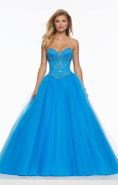Princess Shimmering Tulle Ball Gown