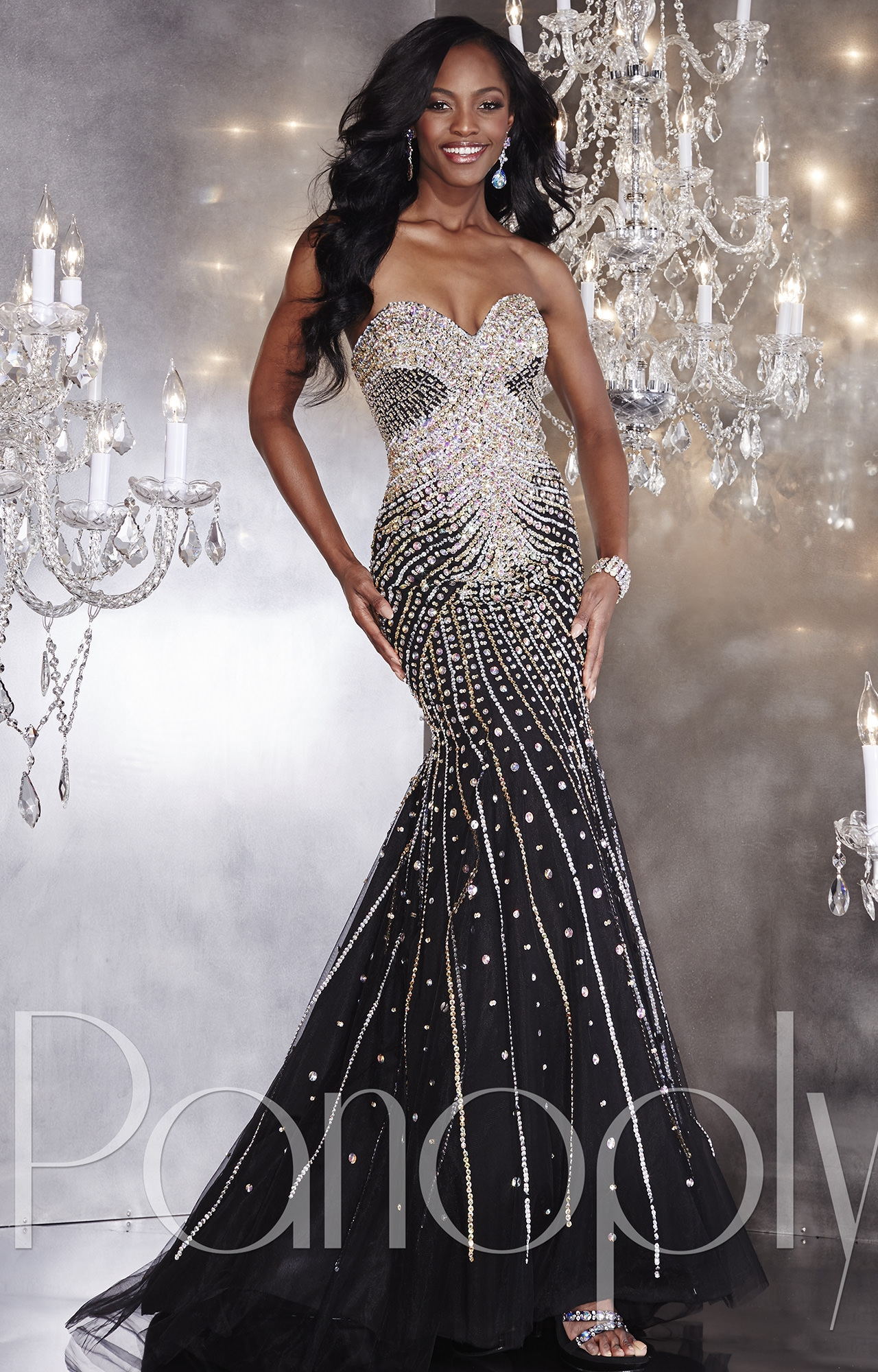 Panoply 14740 - Sensational Sequins Gown Prom Dress