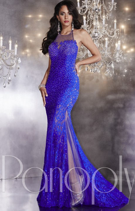 Panoply 14742 Open Back Lace Gown Prom Dress