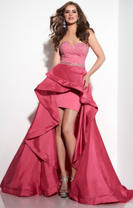 Panoply 14816 Hilo Strapless Gown With Rhinestones Prom