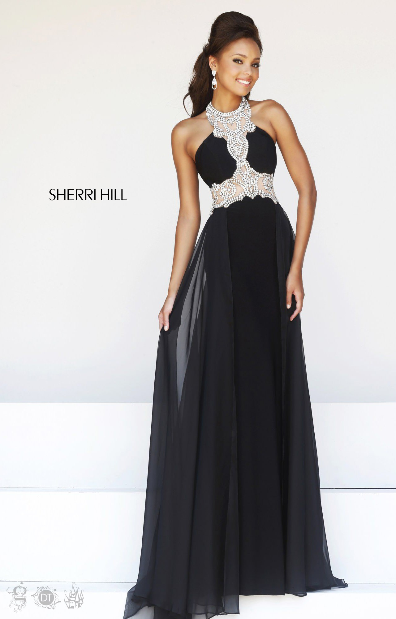 Best Hairstyle For Your Prom Dress : Sherri hill designer formal prom dress