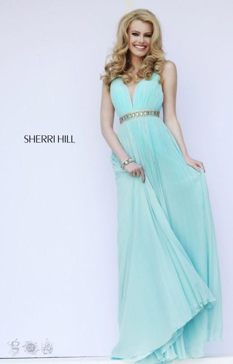 Sherri Hill 11222 Greek Goddess Flowing Dress Prom Dress