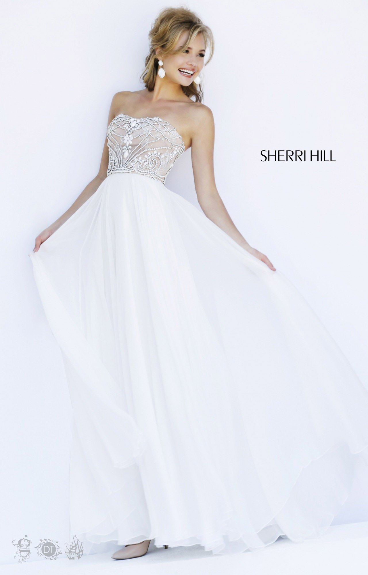 Sherri hill 11262 formal evening prom dress for Wedding dress sherri hill