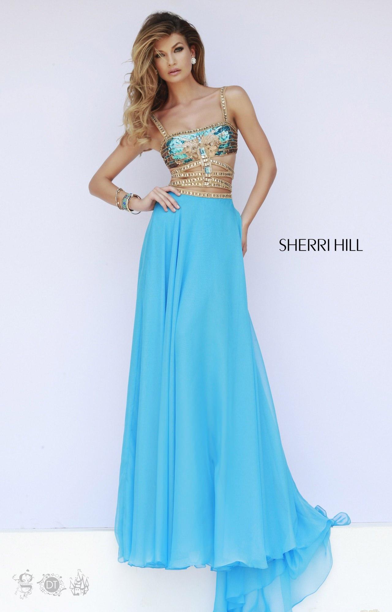 Sherri Hill 32134 - Aztec Chiffon Dress Prom Dress