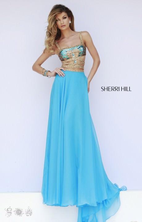 Sherri Hill 32134 Aztec Chiffon Dress Prom Dress