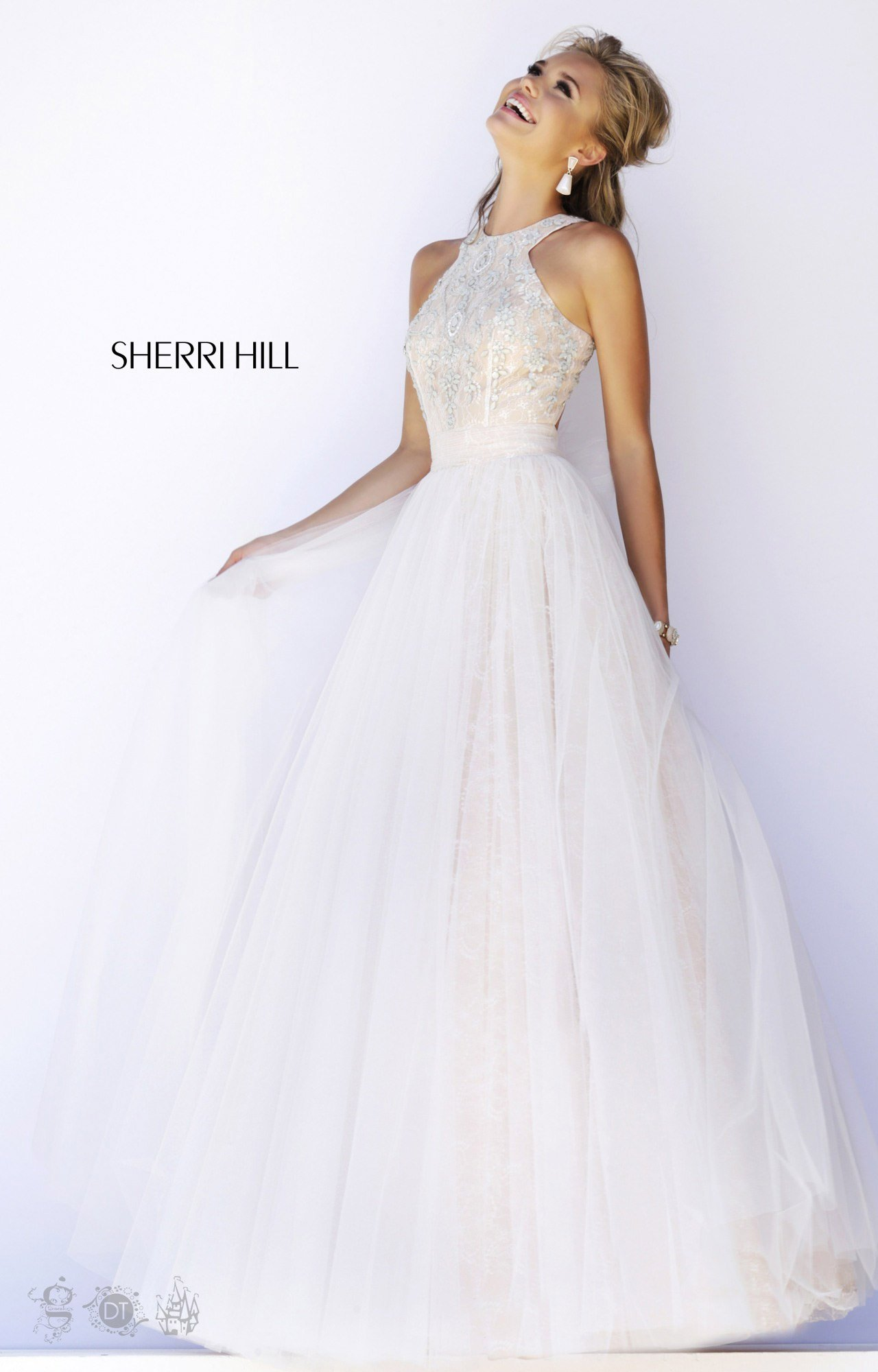 Sherri Hill 32218 - Halter Top Ball Gown Prom Dress