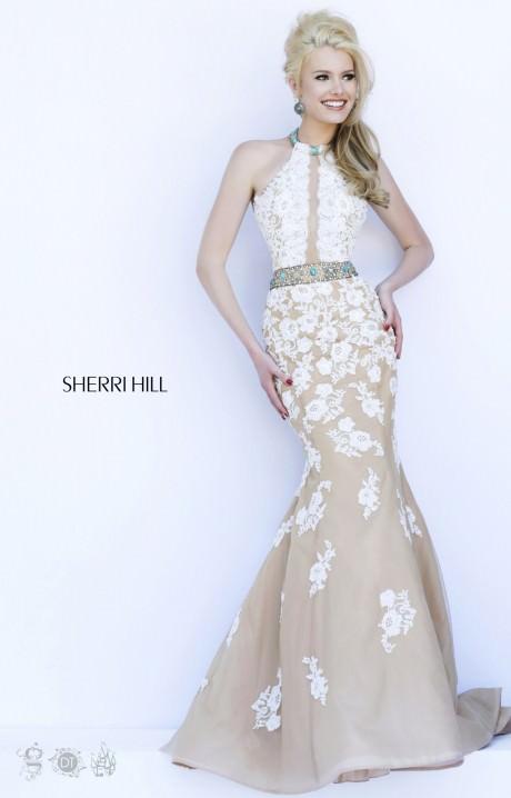 Sherri Hill 32227 Mermaid Lace Dress Prom Dress