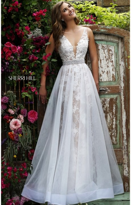 Sherri Hill 11282 The Southern Belle Lace Gown Prom Dress