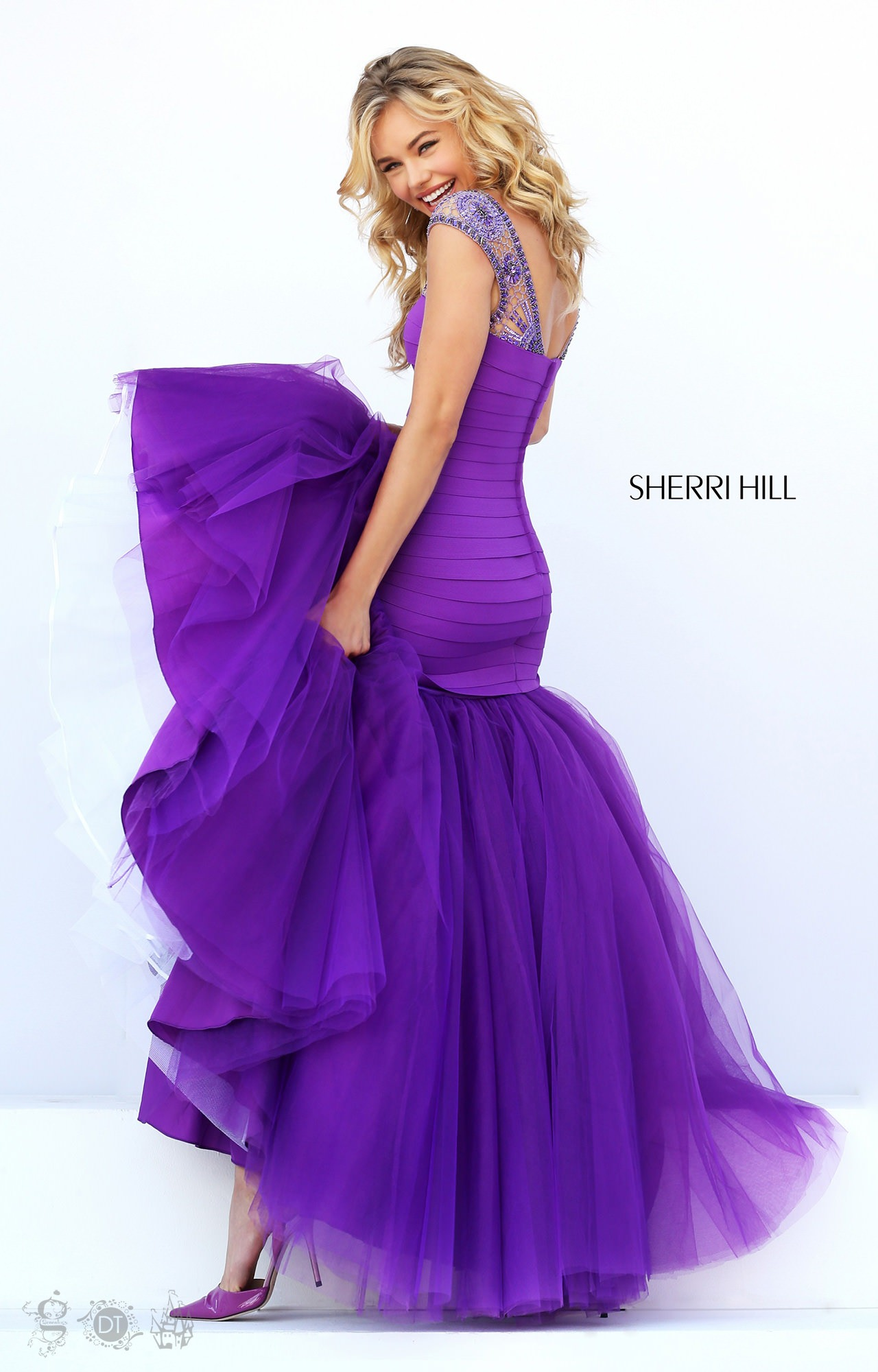 Sherri Hill 50014 Roses Are Red Gown Prom Dress