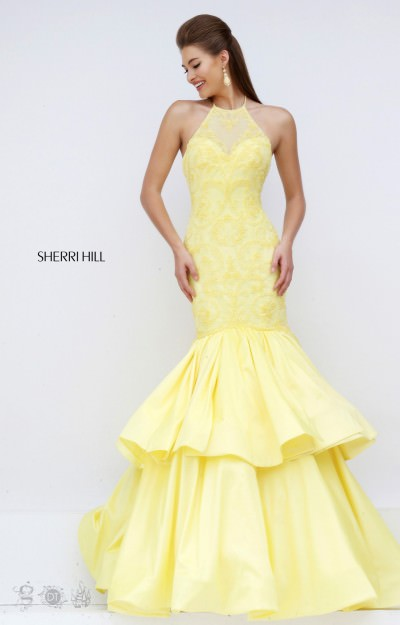 Yellow Bell Prom Dresses 114