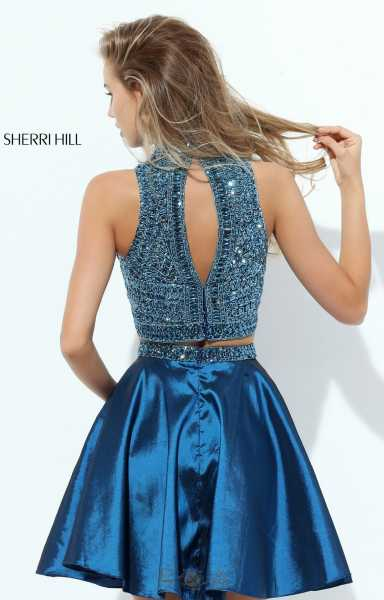 Sherri Hill 50523 Short 2 Piece With Beaded Crop Top And