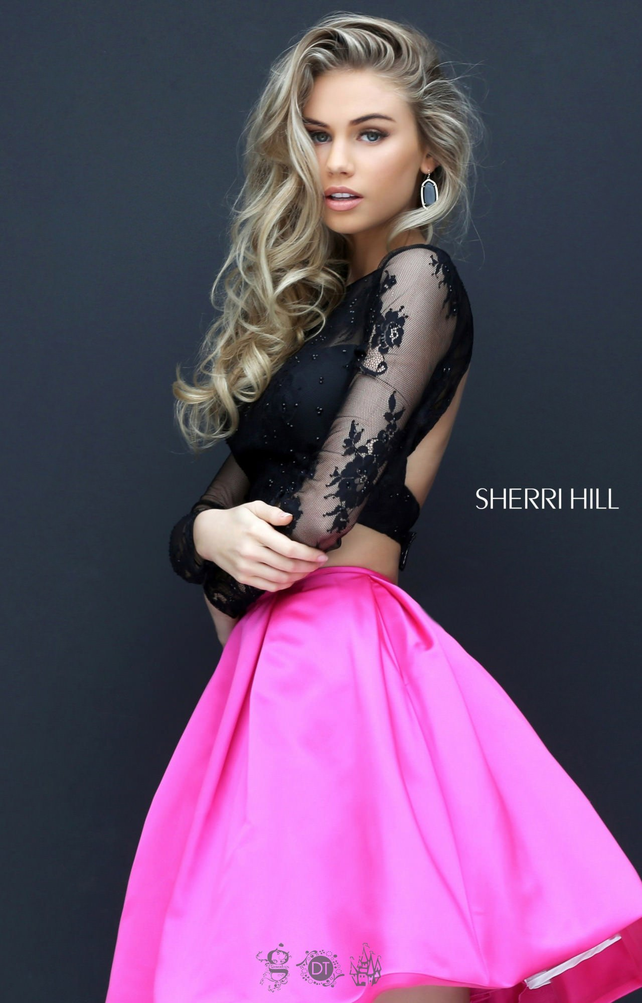 Sherri Hill 50533 Long Sleeve Two Piece Short Dress Prom