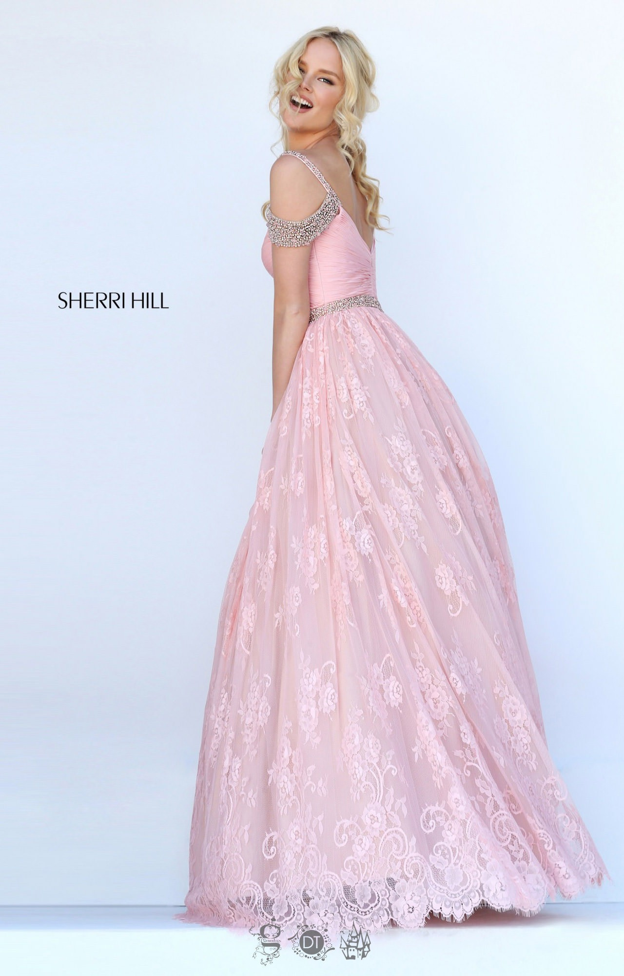 Sherri Hill 50595 Off Shoulder Run Way Style Dress Prom