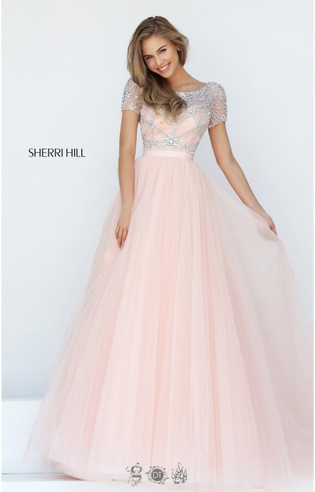 Sherri Hill 50710 Cinderella Style Beaded Cap Sleeve