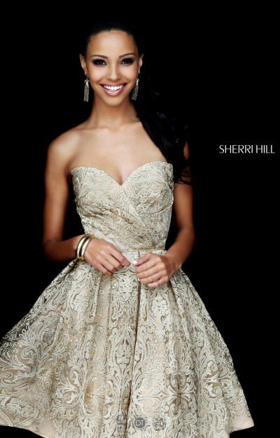 Sweetheart Strapless Lace  Short Dress