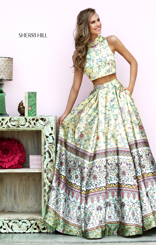 Sherri hill 50783 long two piece floral ball gown sleeveless prom sherri hill 50783 mightylinksfo