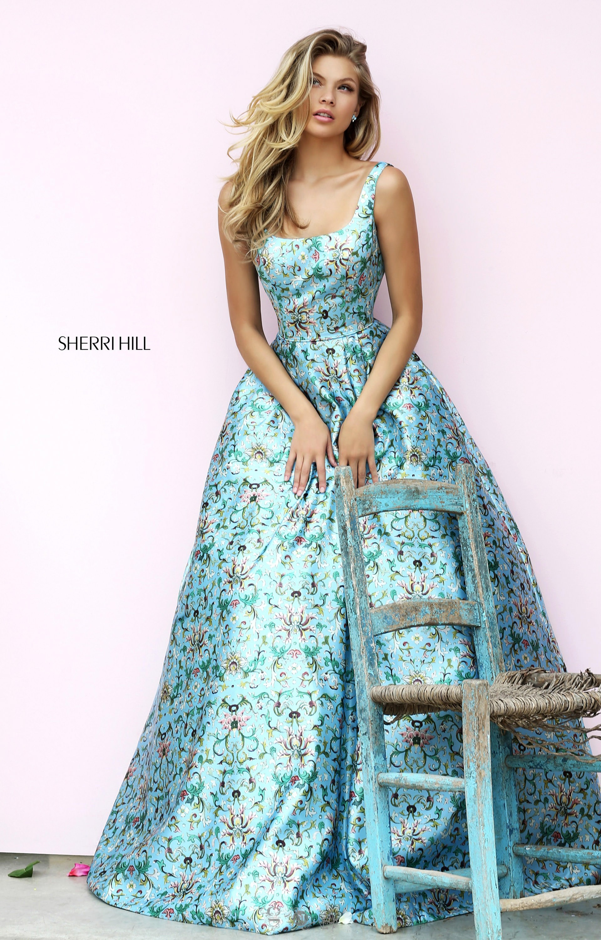 Sherri Hill 50790 - Sleeveless Ball Gown with Open Back Prom Dress