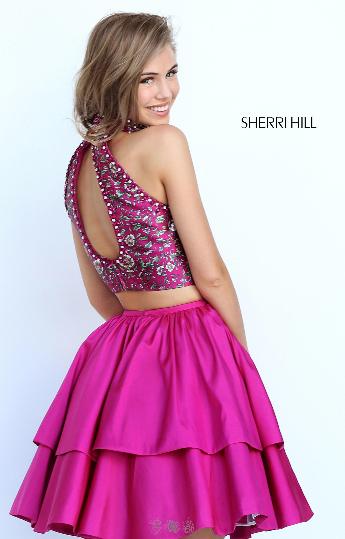 Sherri Hill 50798 - Short 2 Piece Beaded Halter Neckline with ...