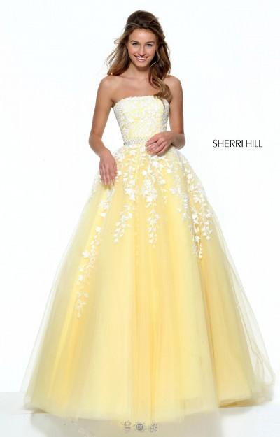 Unique Yellow Prom Dresses 96