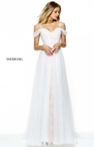 Sherri Hill 50872 Has Straps and Off The Shoulder picture 1