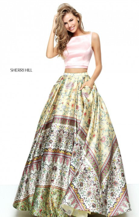 Sherri Hill 50924 Sleeveless Two Piece Ball Gown With