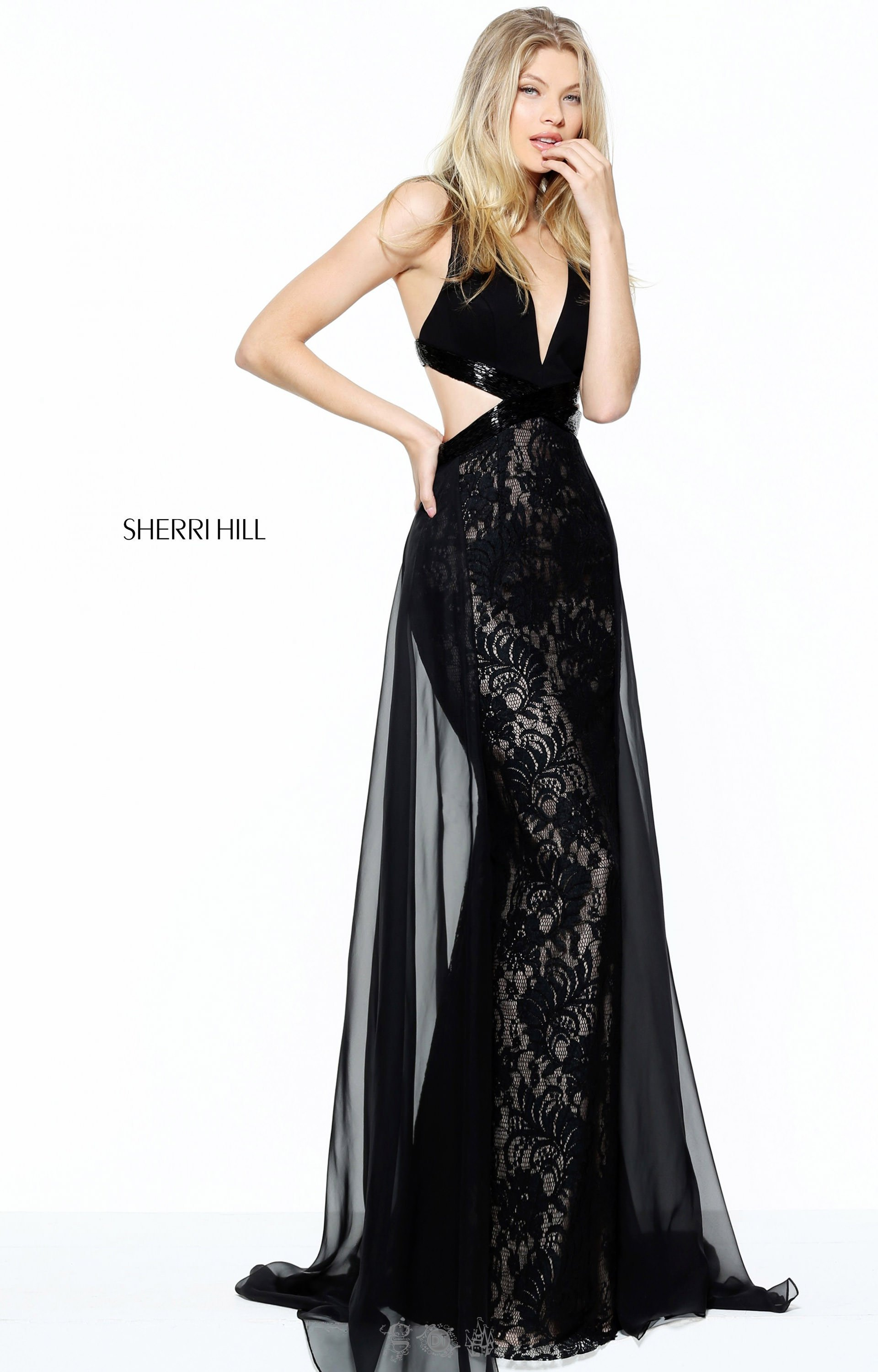 e3293a9e2eed Sherri Hill 50930 - Sexy Cut Out and Lace Dress