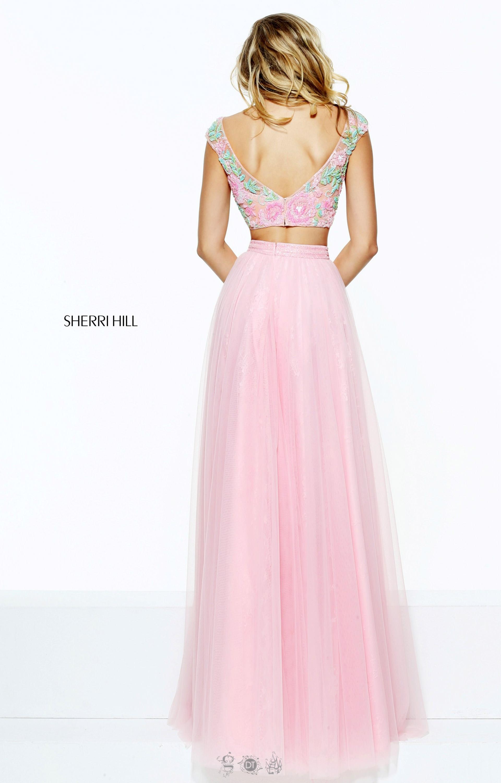 Sherri Hill 50932 - Two-Piece Floral Top Dress Prom Dress