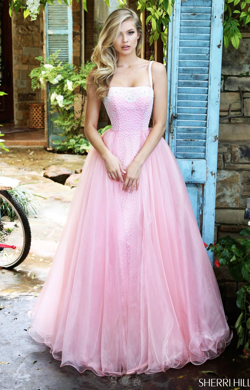 Sherri Hill 50952 Sweet Beaded Dress With Spaghetti