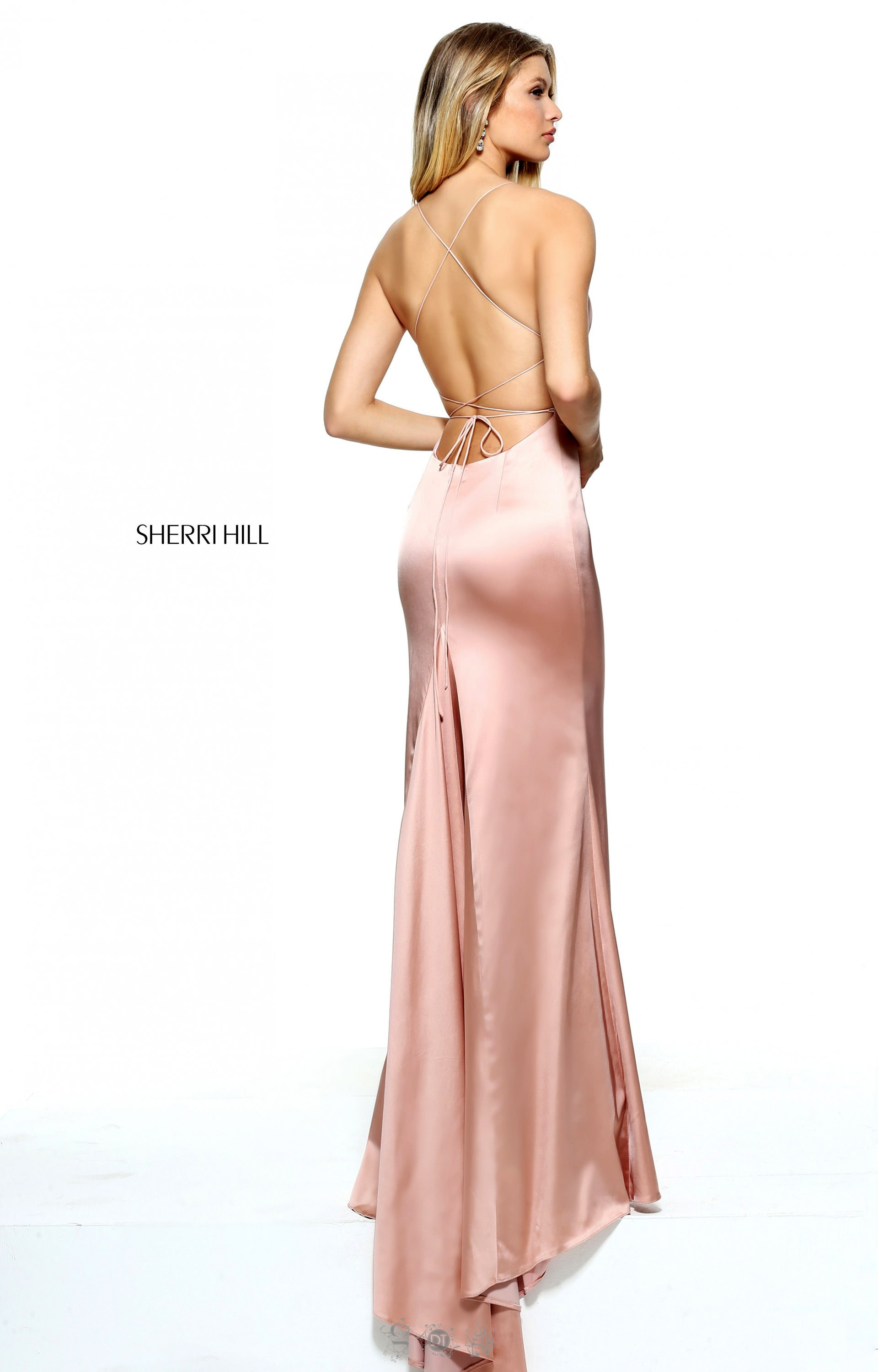 Sherri Hill 51006 - Fitted Satin with Spaghetti Straps and